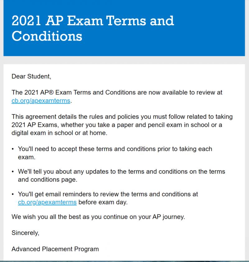 CB宣布14条重要AP考试要求,官方刷题APP也已上线内容图片_2