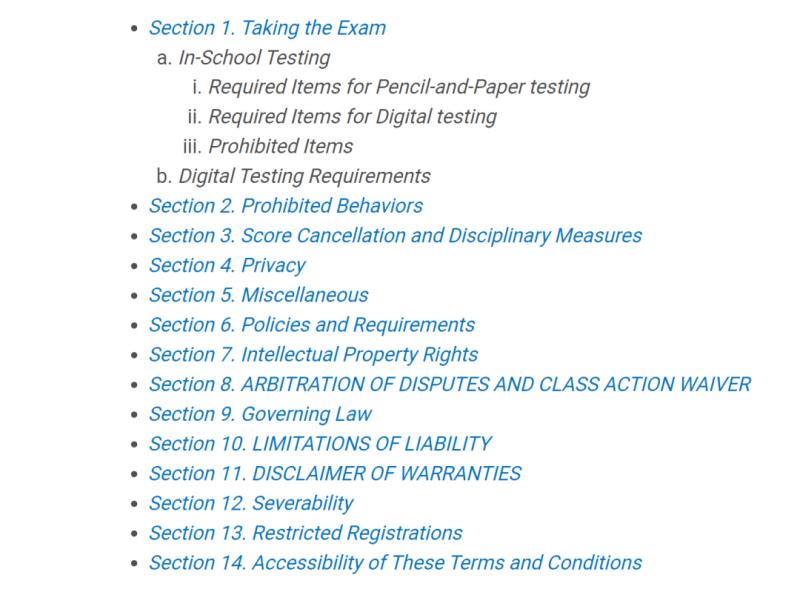 CB宣布14条重要AP考试要求,官方刷题APP也已上线内容图片_3