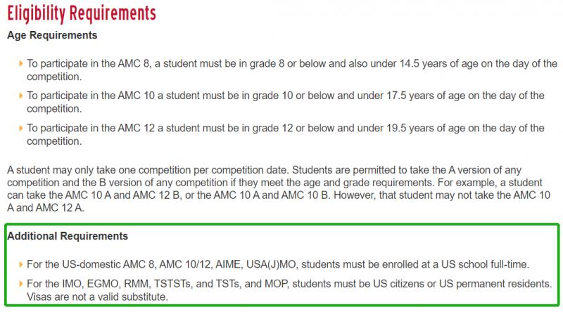 2022AMC参赛条件修改?别慌 国内学生不会受影响内容图片_4