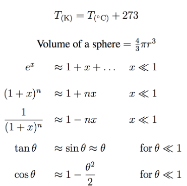 BPhO物理竞赛公式分享  想拿奖这些常数和竞赛要记牢内容图片_3