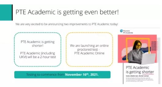 PTE改革啦 11月份开始PTE考试时间缩短至2小时了内容图片_1