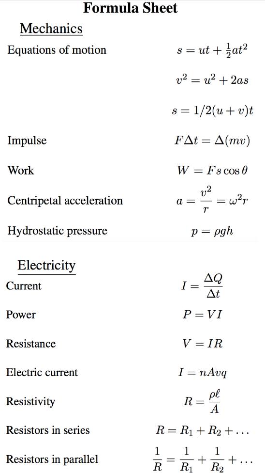 BPhO物理竞赛公式分享  想拿奖这些常数和竞赛要记牢内容图片_4