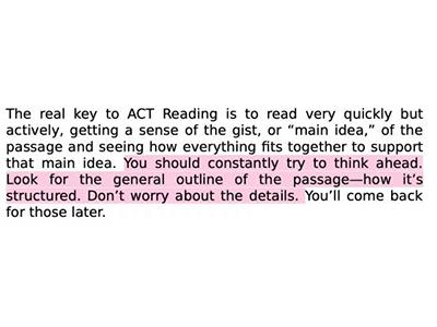 """2022ACT阅读怎么复习 小技巧就能""""打薄""""文章识别考点"""