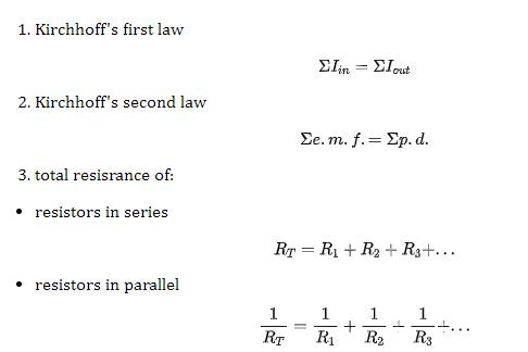 AS物理Kirchhoff's laws知识点讲解  定义和公式都整理了内容图片_3