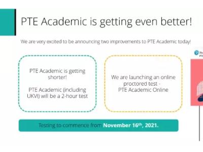 PTE改革啦 11月份开始PTE考试时间缩短至2小时了