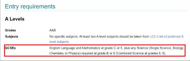 2022年UCL大学GCSE申请要求分享 这10个专业要求真的高!!内容图片_5
